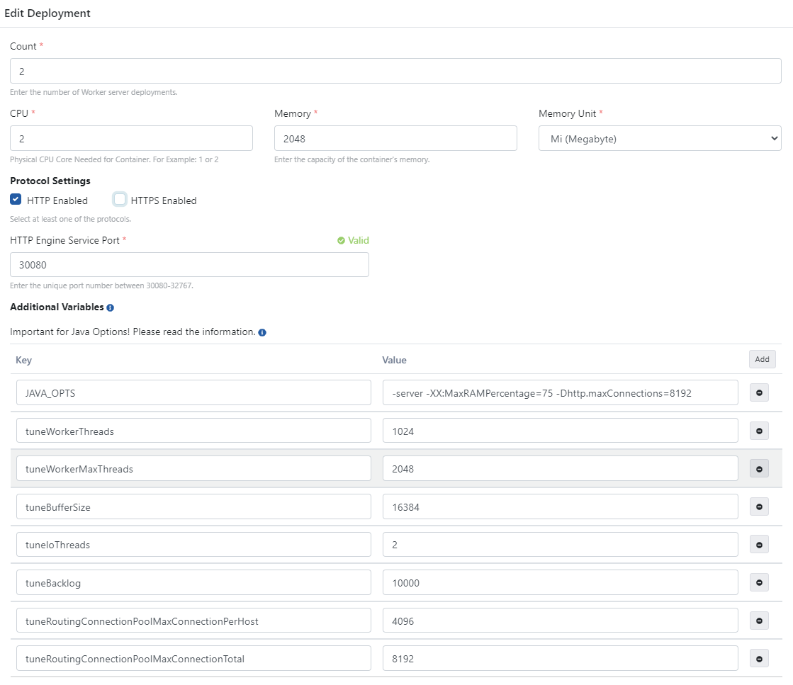 Apinizer Environment Definition on Kubernetes from Management Console